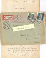 GUERRE 39-45 COR. PRISONNIER GUERRE Au BETRIEBSLAGER STADT CHEMNITZ ZSCHOPAU Du 13-1-44 + CENSURE - Marcophilie (Lettres)