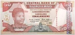 Swaziland - 50 Emalangeni - 1998 - PICK 26b - NEUF - Swaziland