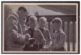 """DT- Reich (008344) Propaganda Sammelbild Adolf Hitler"""" Bild 55, Pimpfe Beim Führer - Deutschland"""