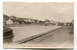 CPA  02 : ST QUENTIN   écluses Canal Et Péniches    VOIR DESCRIPTIF  §§§ - Saint Quentin