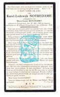 DP Karel Lodewijk Notredame ° Langemark Poelkapelle 1869 † St.-Juliaan 1938 X ML. Keygnaert - Images Religieuses