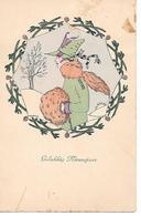 Illustrator - Mela Koehler - Elegant Woman, Femme élégante, Elegante Frau, Hat, Chapeau, Hut - Koehler, Mela