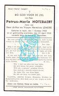 DP Petrus M. Notebaert / Lemeire 30j. ° Ieper 1905 † 1935 - Images Religieuses