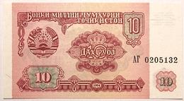 Tadjikistan - 10 Roubles - 1994 - PICK 3a - NEUF - Tadzjikistan
