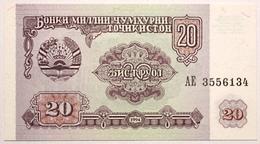 Tadjikistan - 20 Roubles - 1994 - PICK 4a - NEUF - Tadzjikistan