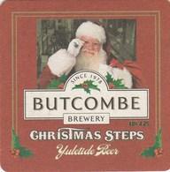 UNUSED BEERMAT - BUTCOMBE BREWERY  (WRINGTON, ENGLAND) - CHRISTMAS STEPS YULETIDE BEER - (Cat No 023) - (2009) - Portavasos