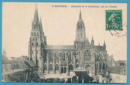 BAYEUX - Ensemble De La Cathédrale, Vue De L'Evêché - Carte Circulé 1924 - Bayeux
