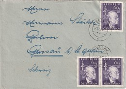 AUTRICHE 1950 LETTRE DE MELLAU - 1945-.... 2. Republik