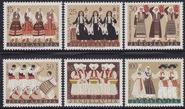 Yugoslavia 1961 Costumes - Yugoslav Folklore, MNH (**) Michel 964-969 - 1945-1992 República Federal Socialista De Yugoslavia