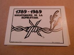 Cpm De Collection Allegorie Sociale 1989.-bicentenaire De La Revolution 85 Exemplaires - Lardie