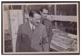 """DT- Reich (008367) Propaganda Sammelbild Adolf Hitler"""" Bild 113, Der Führer Und Rudolf Hess Besichtigen Den Bau - Deutschland"""