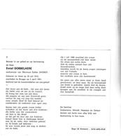 E.DOBBELAERE °HEIST 1912 +BRUGGE 1991 (E.DHONDT) - Images Religieuses