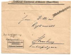 SK556- ILLKIRCH GRAFFENSTADEN - 1940 - Griffe Caoutchouc Provisoire - Gummistempel - Bas Rhin - - Marcophilie (Lettres)