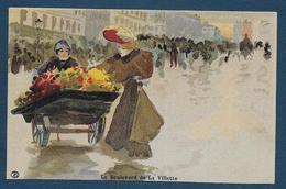 PARIS - Le Boulevard De La Villette -  Illustrateur A.T. - France