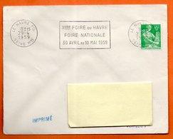 LE HAVRE  X°  FOIRE 1959  Lettre Entière N° BC 695 - Postmark Collection (Covers)