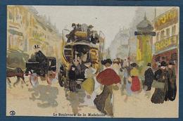 PARIS - Le Boulevard De La Madeleine -  Illustrateur A.T. - France