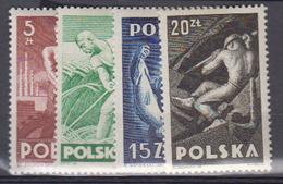 POLOGNE    1947     N°  504 / 507      COTE      5 € 00        ( W 249 ) - 1944-.... República
