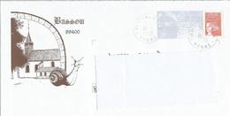 """Prêt à Poster PAP """" BASSOU YONNE - Les Escargots  """" Oblitéré 2005 (Rep. Luquet) - Postwaardestukken"""