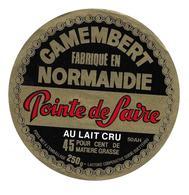 ETIQUETTE De FROMAGE..CAMEMBERT Fabriqué En NORMANDIE..Pointe De Saire..Laiterie Coop. à QUETTEHOU (Manche 50 AH) - Fromage
