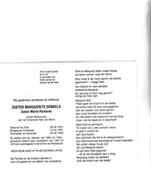 Zuster-Missionaris M.DOBBELS °TIELT 1921 +1993 HEVERLEE - Images Religieuses