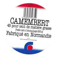 ETIQUETTE De FROMAGE..CAMEMBERT Fabriqué En NORMANDIE (Manche 50 AF)..PREVAL - Fromage
