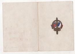 MILITARIA WW2 - CARTE DE MEILLEURS VOEUX NOËL 1939 NOUVEL AN 1940 - SOMEWHERE IN FRANCE - DRAPEAUX ANGLAIS ET FRANCAIS - 1939-45