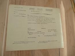 Militaria Militaire Pièce Vierge XVIII ème Hôpital Révolution Attestation De Naissance - Documents