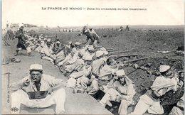 AFRIQUE --  MAROC -- Dans Les Tranchées Devant CASABLANCA - Casablanca
