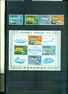 BAHAMAS GOODWILL CARAVAN 1970 4 VAL + BF NEUFS A PARTIR DE 2.25 EUROS - 1963-1973 Autonomia Interna