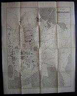 Grand Plan De Versailles En 1889 Dressé Par Bieuville 56 Cms Sur 45 Cms Voir Photos Pour Le Détail - Cartes Géographiques