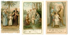 3 Devotieprentje - Images Religieuses