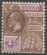 British Guiana. 1921-27 KGV. 4c Used. Mult Script CA W/M. SG 275 - British Guiana (...-1966)