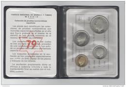 NUMISMATIC SPANISH SET - 4 COINS - 1975 * 1979 - PROOF - JUAN CARLOS I - Madrid Mint  NUMISMATIQUE  NUMISMATIK - Sets Sin Usar &  Sets De Prueba