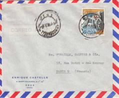 ESPAGNE - 1956 ? - Lettre Commerciale Pour La France - 1931-Oggi: 2. Rep. - ... Juan Carlos I