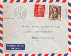 ESPAGNE - 1962 - Lettre Commerciale Par Avion Pour La France - 1961-70 Brieven