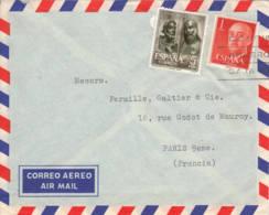 ESPAGNE - Lettre Commerciale Par Avion Pour La France - 1931-Oggi: 2. Rep. - ... Juan Carlos I