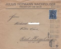 ALLEMAGNE - 1922 - Lettre Commerciale Pour Bad Homburg - Storia Postale
