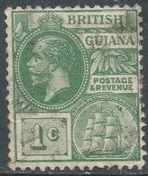 British Guiana. 1913-21 KGV. 1c Used. Mult Crown CA W/M. SG 259a - British Guiana (...-1966)