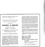 M.DE DOBBELAERE °KNESSELARE 1912  +1956 (G.VAN HULLE) - Images Religieuses