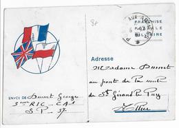 1939 - CARTE FM Du 5° RIC SP 57 - Marcophilie (Lettres)