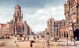 Bombay, View Of Victoria Terminus & Municipal Building. INDIA // INDE. - India