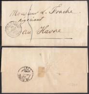 """FRANCE LETTRE DATE PARIS 21/06/1841 """"CHAMBRE DES DEPUTES"""" VERS LE HAVRE (VG) DC-5190 - Postmark Collection (Covers)"""