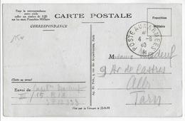 1940 - CARTE FM Du SP 12333 => ALBI (TARN) - Marcophilie (Lettres)