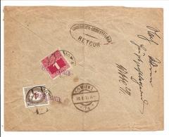 Österreich Nachporto Mischfrankatur 1899/1900 Mit 1908/13. F25 & F34-UNGÜLTIG-Berlin>Wien-UNGÜLTIG - Portomarken