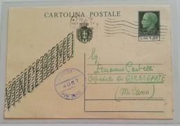 "Cartolina Postale ""vinceremo"" Roma-Garbagnate (MI) - 29/05/1945 - Storia Postale"