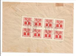 Österreich Nachporto Behörden Brief Wien. 8-ER BLOCK 1Pf Ausgabe 1945 Mi 175 - Portomarken