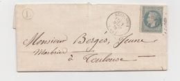 Lettre Avec Correspondance  N° 29 Variété état De La Pipe  BOITE DE CORNAC Timbre à Date De BRETENOUX Du 1/03/1870 - 1863-1870 Napoléon III Lauré