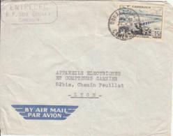 CAMEROUN - 1956 - Lettre Commerciale Par Avion Pour La France - Camerun (1960-...)