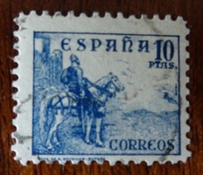 &44& ESPAÑA SPAIN EDIFIL 831, YVERT 589A, , MICHEL 780 II VERY FINE USED. HORSE. CID.. - 1931-50 Usados