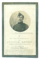 WO1 / WW1 - Doodsprentje Denoo Arthur - Ruddervoorde / Ramskapelle / De Panne- Gesneuvelde - Obituary Notices